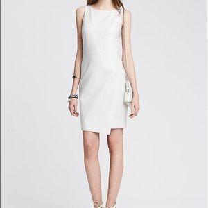 Banana Republic White Envelope Sheath Dress